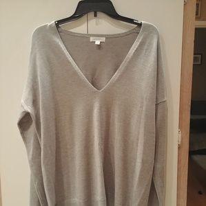 Comfy deep Vneck knit top